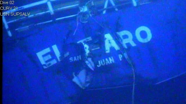 NTSB image of E Faro on sea floor