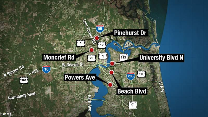 Seven Hours of overnight violence in Jacksonville