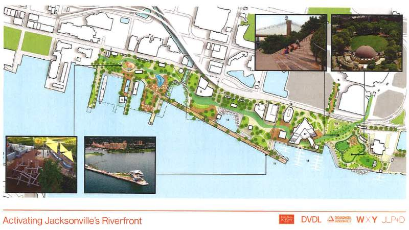 Proposed plans for park on Jacksonville's Northbank.
