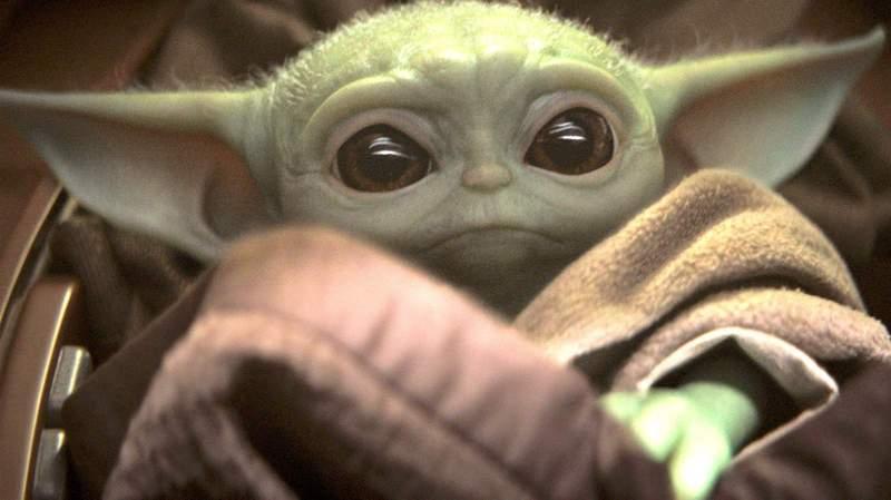 """Baby Yoda"" in Disney+'s ""The Mandalorian."""