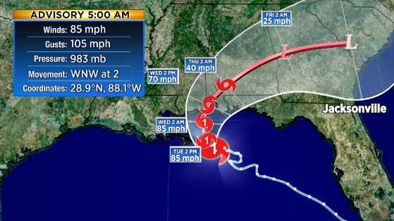 Hurricane Sally 5 a.m. Tuesday