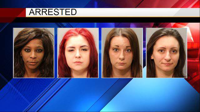 JSO booking photos for Sonja Laws, Emily McKay, Aundrea Sprinkle and Tamra Worley.