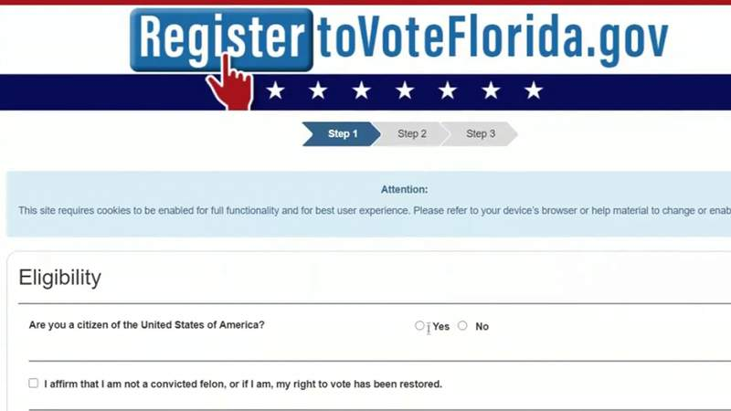 Voters in Florida and Georgia have until Oct. 5 to register