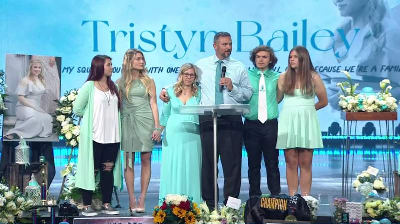 Tristyn Bailey's mother, father and siblings.