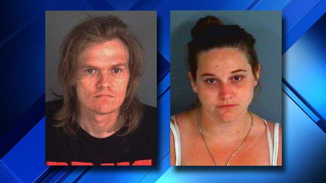 Clay County Sheriff's Office booking photos of Zachary Adam Harwell and Trisha Ann Jewell