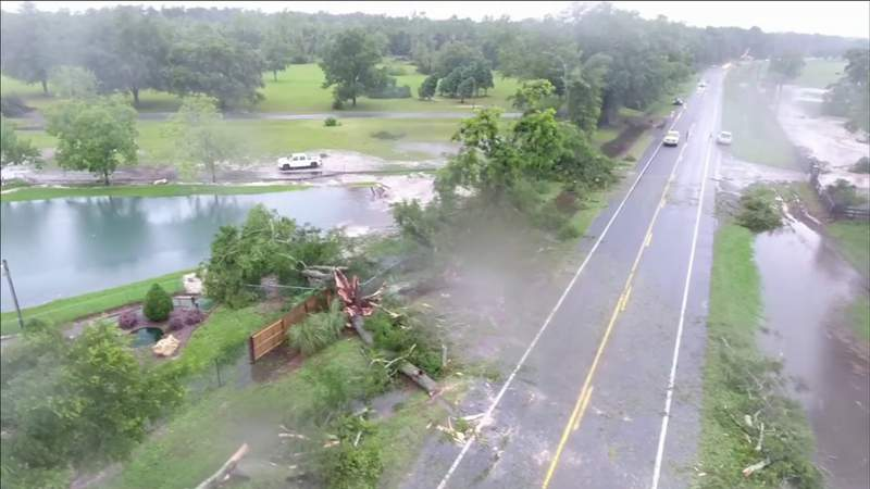 Storm damage reported along SR 47 in Columbia County