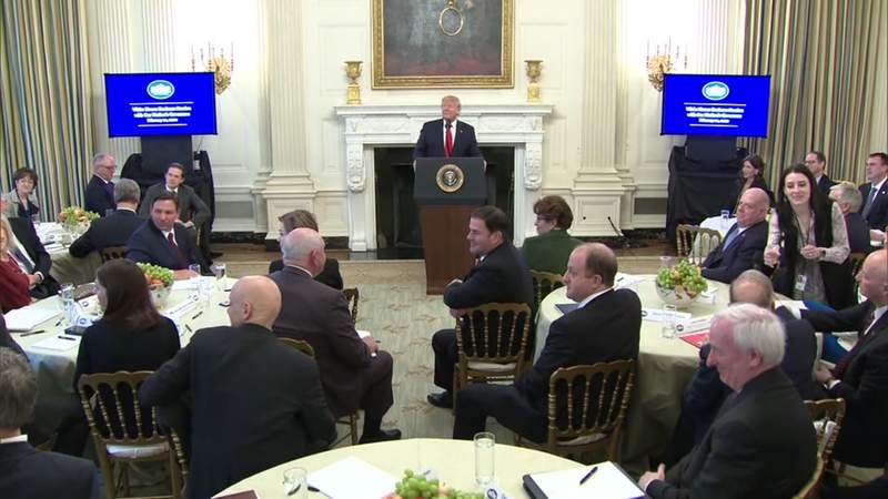 President Donald Trump participated in the 2020 White House Business Session with Our Nation's Governors. Florida Gov. Ron DeSantis was among the governors in attendance.