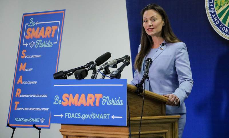 FILE - Florida Agriculture Commissioner Nikki Fried unveils new campaign aimed at encouraging residents to wear masks.