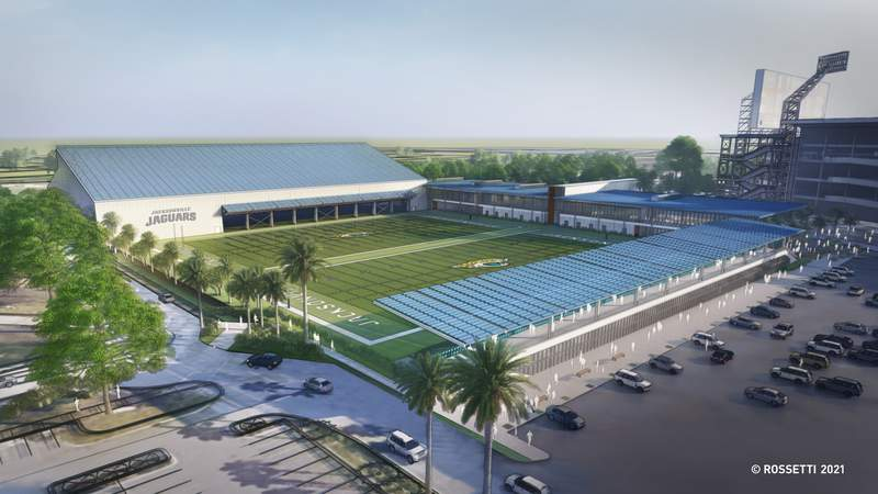 A rendering of the Jaguars proposed sports performance facility.