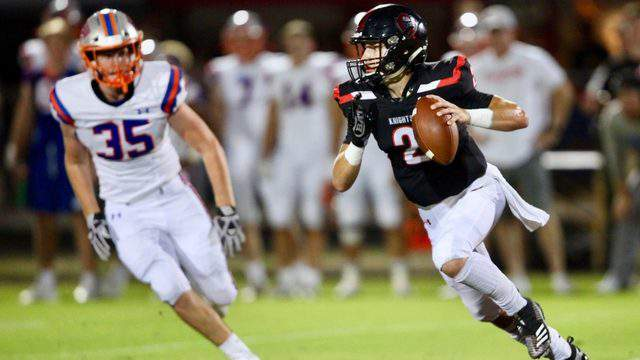 Bolles linebacker Chris Commander (35) chases Creekside's Quinn Sieger during a Week 5 game in 2019. Bolles hosts Creekside on Friday. (Ralph D. Priddy, Contributed photo)