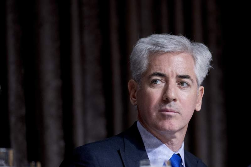 FILE - In this Nov. 12, 2019 file photo, billionaire investor William Ackman appears for a speech at the Economic Club of New York at the New York Hilton Midtown in New York. Ackman is walking away from a deal announced last month in which he would take a 10% stake in Universal Music Group through a special-purpose acquisition company. In a letter Monday, July 19 to shareholders of his investment fund, Pershing Square, Ackman cited questions from the Securities and Exchange Commission about whether the structure of the SPAC qualified under the rules of the New York Stock Exchange. (AP Photo/Andrew Harnik, File)