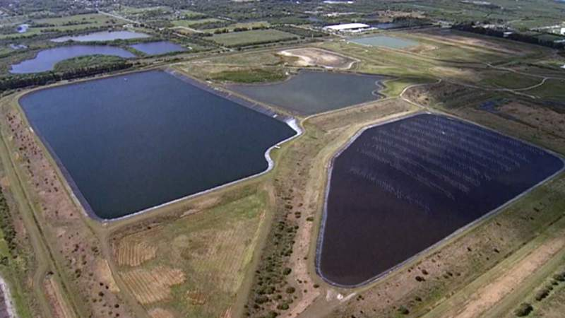 A leak at a wastewater pond at old Piney Point phosphate mine off of U.S. 41 in Manatee County prompted a state of emergency.