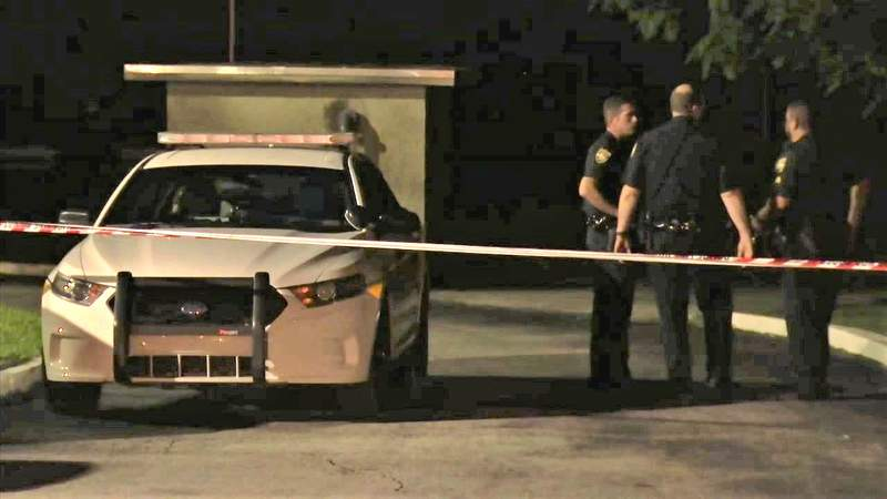 Police investigate fatal shooting at the New Royal Estates Apartments.