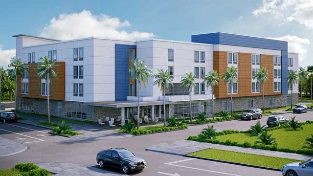 Rendering of the new Marriott Hotel in Wildlight, Florida.