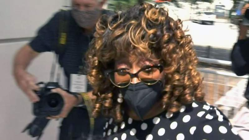 Former U.S. Rep. Corrine Brown arrives at Federal Court on Oct. 4, 2021