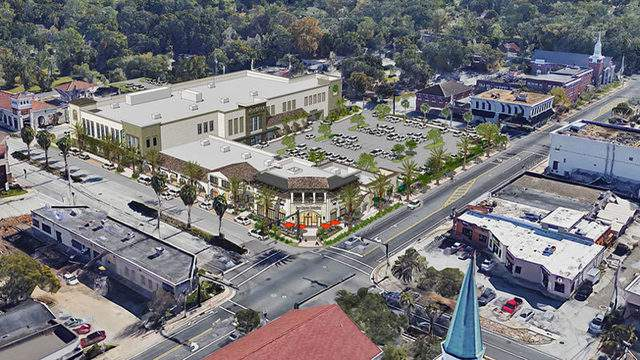 Rendering of East San Marco Publix shopping plaza from Regency Centers