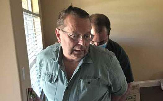 Deputies arrest George Proulx at the home he preparing to flee.