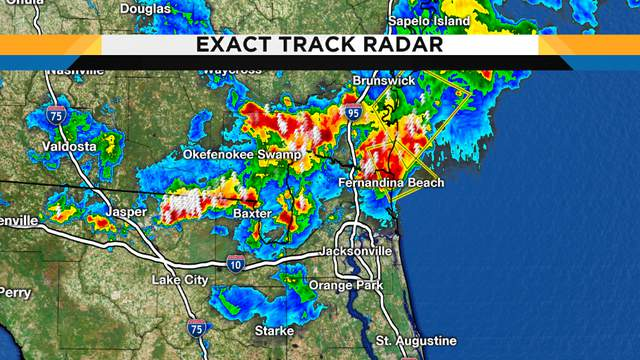 Nasty Georgia storms are fading as the reach Florida...