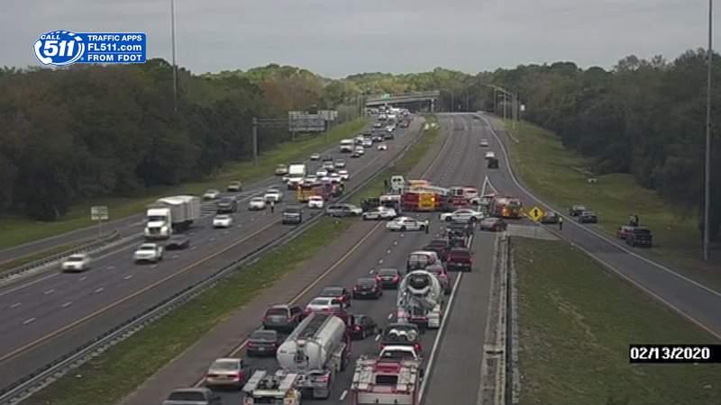 Crash blocking I-295 northbound at 103rd Street