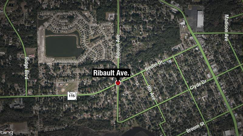 A JSO officer and three other people were taken to the hospital with minor injuries, following a crash at the intersection of  Soutel Drive and Ribault Avenue.