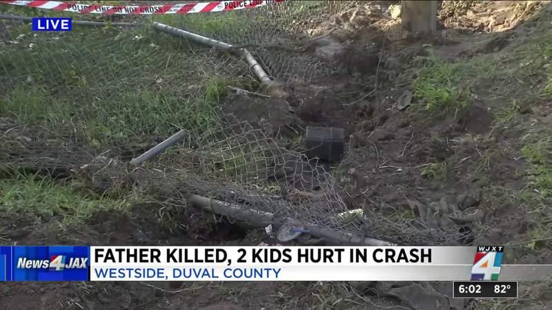 Father killed, 2 kids hurt in crashff