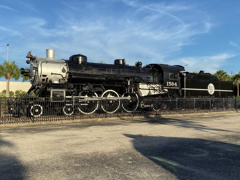 The Atlantic Coast Steam Engine No. 1504 has been at the Prime Osborn Convention Center for decades.