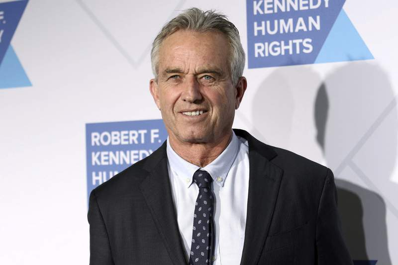 FILE - In this Dec. 12, 2019 file photo, Robert F. Kennedy, Jr. attends the 2019 Robert F. Kennedy Human Rights Ripple of Hope Awards at the New York Hilton Midtown in New York.  Instagram has banned Robert F. Kennedy Jr. for repeatedly sharing misinformation about vaccine safety and COVID-19, Thursday, Feb. 11, 2021.  Kennedy, the son of Robert F. Kennedy, is a leading source of debunked claims about the safety of vaccines and has amassed a huge following on social media. Kennedy remains on Instagram's owner, Facebook, despite that platform's moves to restrict vaccine misinformation.  (Photo by Greg Allen/Invision/AP, File)