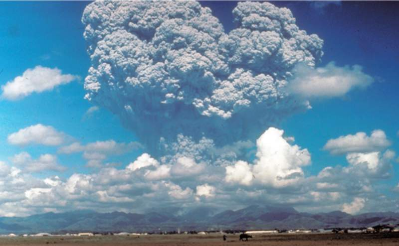 Scientists studying ways to stop global warming have simulated the cooling effect of injecting sulfates high into the stratosphere similar to the planetary cooling after Mt. Pinatubo erupted in the Philippines, on 12 June 1991.