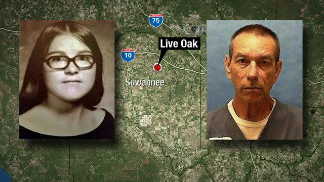 Live Oak High School yearbook photo of Debora Howard and Florida Department of Corrections photo of George McCraney