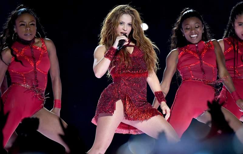 MIAMI, FLORIDA - FEBRUARY 02: Shakira performs onstage during the Pepsi Super Bowl LIV Halftime Show at Hard Rock Stadium on February 02, 2020 in Miami, Florida. (Photo by Jeff Kravitz/FilmMagic)