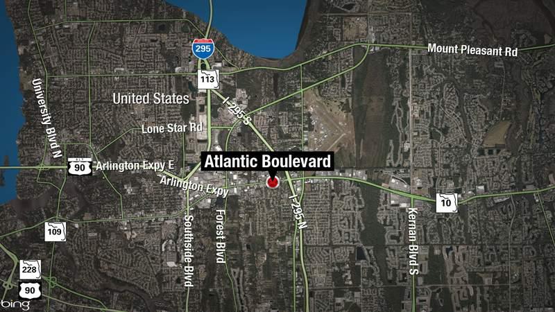 One person died after a car crash near Atlantic Boulevard near Jackson Road.