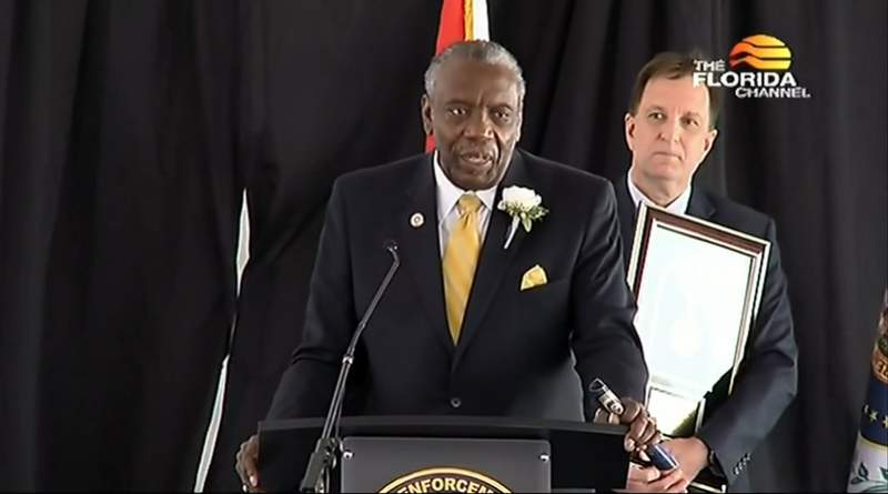 Nat Glover inducted into Florida Law Enforcement Officers' Hall of Fame.