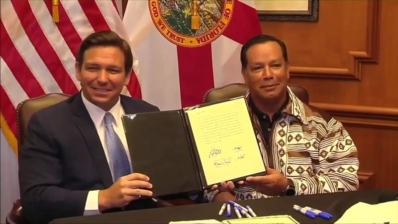 Florida lawmakers to consider DeSantis, Seminole Tribe gambling compact