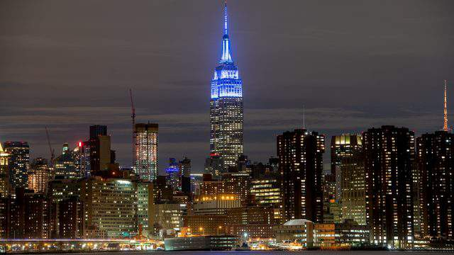 The Empire State Building lights it up blue for World Autism Awareness Day (Roy Rochlin/Getty Images for Autism Speaks).