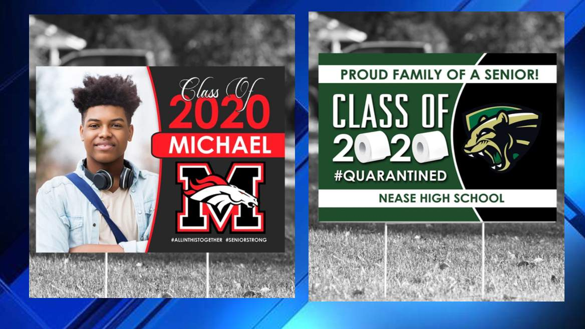 Local Business Selling Yard Signs Giving High School Seniors A Chance For Recognition