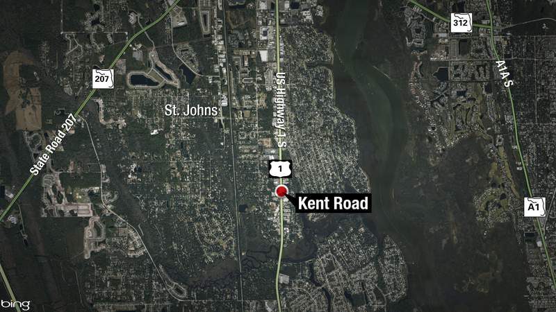 Pedestrian killed in crash in St. Johns County.