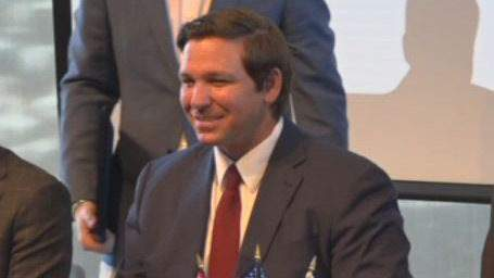 Florida Gov. Ron DeSantis pictured during his economic-development trip to Israel.