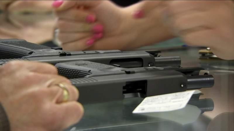 Record surge in gun sales