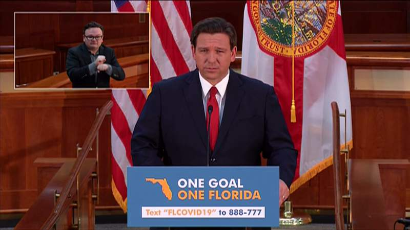 Gov. Ron DeSantis on Wednesday night provided a live address regarding COVID-19.