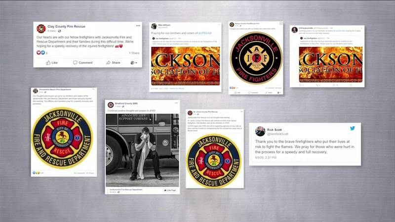 Messages of support pouring in for injured JFRD firefighters