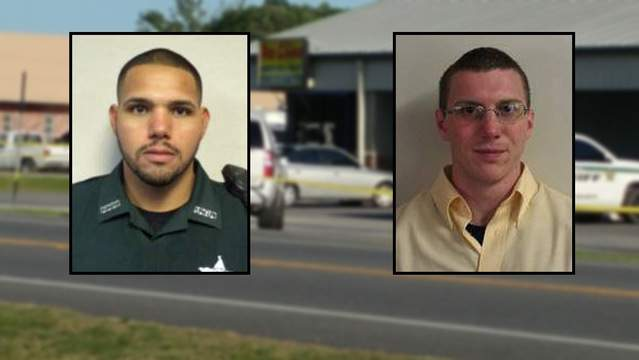Gilchrist County Sheriff's Office photos of Sgt. Noel Ramirez and Deputy Taylor Lindsey
