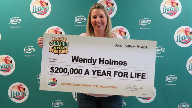 Wendy Holmes, of Lake City, won the $200,00 for life scratch-off game.