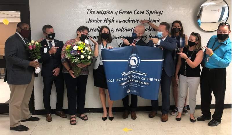 Principal Jen Halter of Green Cove Springs Junior High School named Florida Principal of the Year.