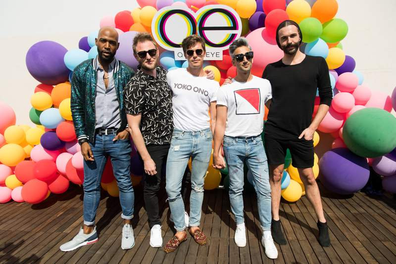 Karamo Brown, Bobby Berk, Antoni Porowski, Tan France and Jonathan Van Ness attend Netflix's 'Queer Eye' Celebrates 4 Emmy Nominations with GLSEN at NeueHouse Hollywood on August 12, 2018 in Los Angeles, California. (Photo by Emma McIntyre/Getty Images)