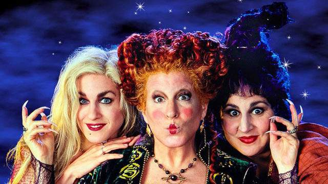 Sarah Jessica Parker,Bette Midler and Kathy Najimy star as the Sanderson sisters in 'Hocus Pocus.' (Image credit: Disney)
