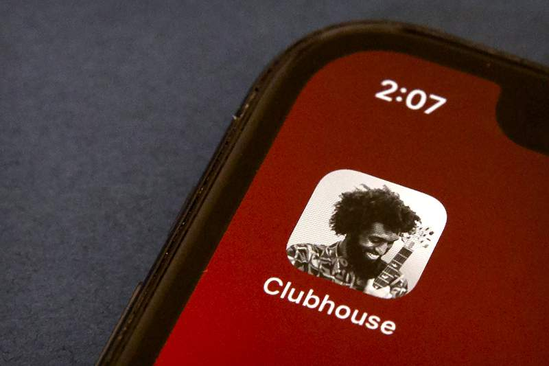 FILE - In this Feb. 9, 2021 file photo, the icon for the social media app Clubhouse is seen on a smartphone screen in Beijing. Oman has severed access to the buzzy new audio chat app Clubhouse, the countrys telecommunications regulator confirmed Monday, setting off fears that authorities across the Persian Gulf may censor a rare open forum for discussion of sensitive topics in the region. (AP Photo/Mark Schiefelbein, File)