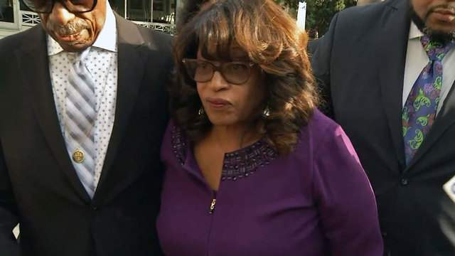 Corrine Brown arrives at the U.S. District Courthouse Monday for sentencing.