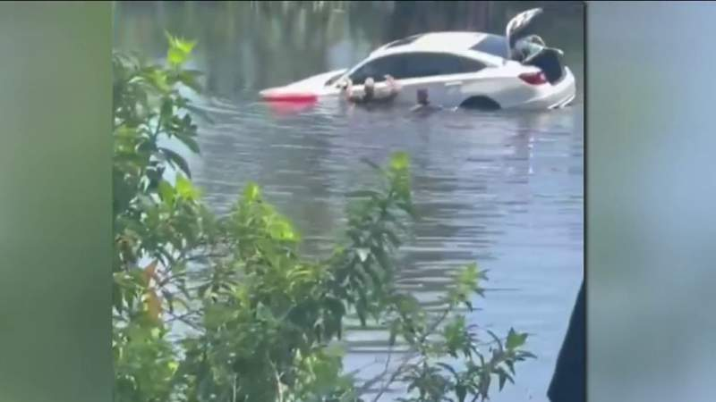 SJC captain recounts dramatic rescue of driver trapped in sinking car