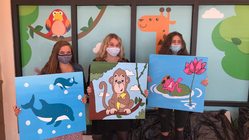 Middleburg High School art students recently breathed new life into Orange Park Medical Center with a bunch of new ceiling tiles in the pediatric unit.