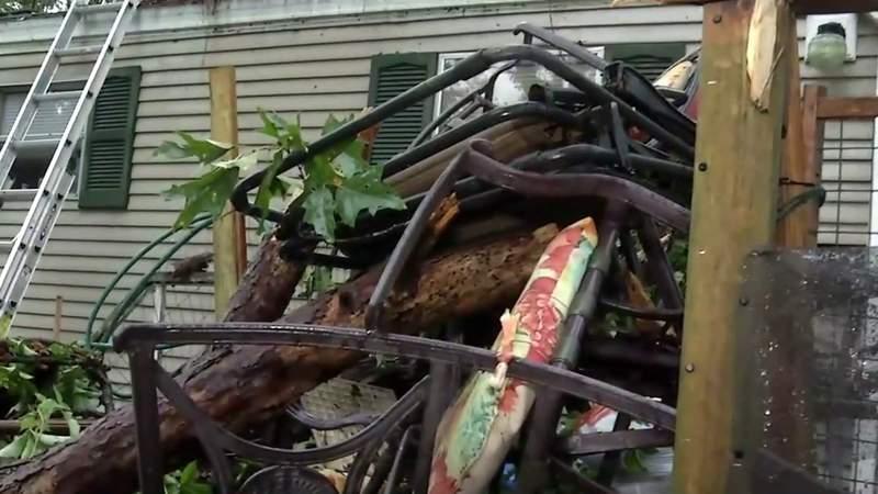 Tree crashes through Lake City mobile home